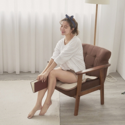 BUHO 3D立體日式天然藤蓆一人坐墊55x55cm(3入)