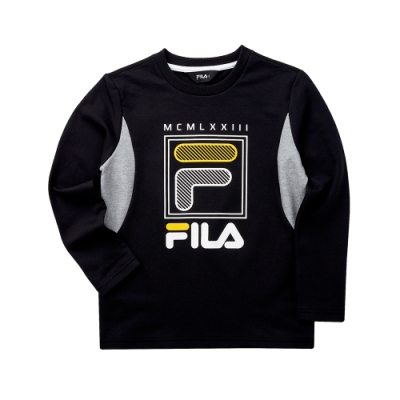 FILA KIDS 童長袖T恤-黑 1TET-8900-BK