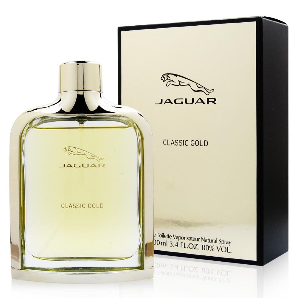 JAGUAR積架 GOLD金色捷豹男性淡香水100ml 贈JAGUAR積架鑰匙圈乙份