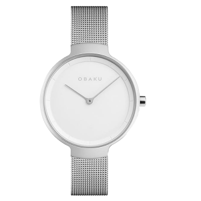 OBAKU 簡約百搭時尚腕錶-銀(V231LXCIMC)/32mm
