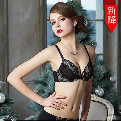 瑪登瑪朵 浪漫古典蕾絲內衣  B-E罩杯(黑)