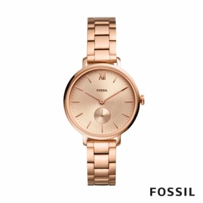 FOSSIL KAYLA 玫瑰金不鏽鋼手錶(ES4571)-36mm
