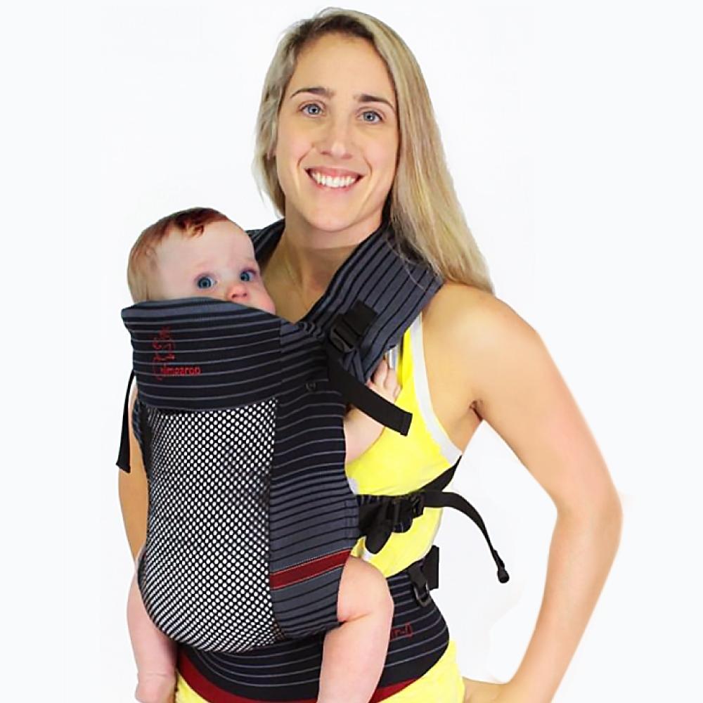 加拿大 Chimparoo Trek Air-O 透氣嬰兒揹帶 , 瑪瑙黑