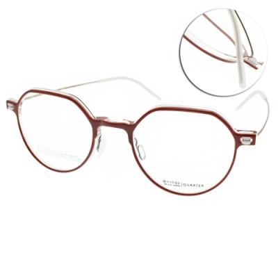 VYCOZ光學眼鏡 復古多邊造型款/紅-霧金#QUARTER RED
