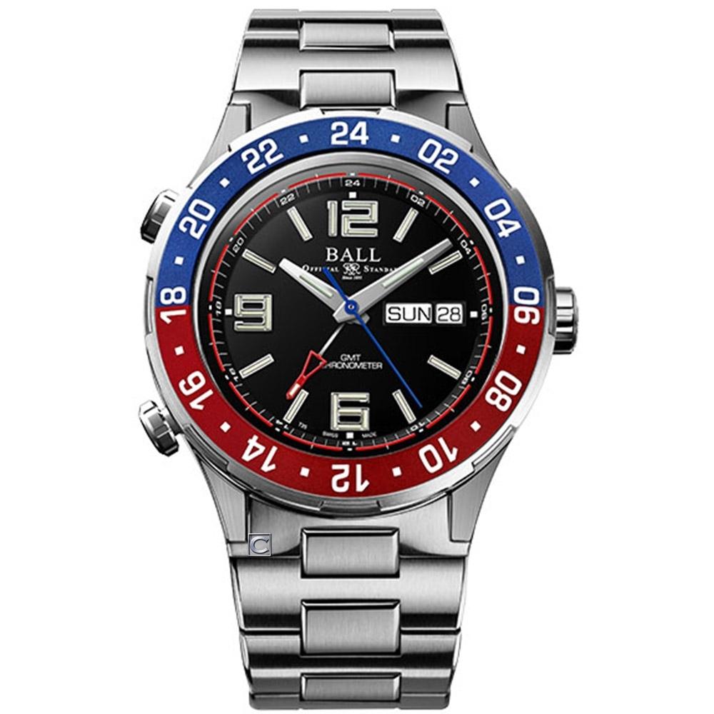 BALL 波爾錶 Roadmaster Marine GMT 瑞士天文台機械錶 (DG3030B-SCJ-BK)黑/42mm