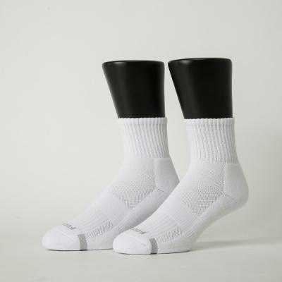 Footer除臭襪-單色運動逆氣流氣墊襪加大款-六雙入(黑*2+深灰*2+白*2)