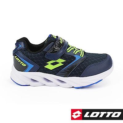 LOTTO 義大利- 童WINDFLY 乘風者風動跑鞋 (深藍)