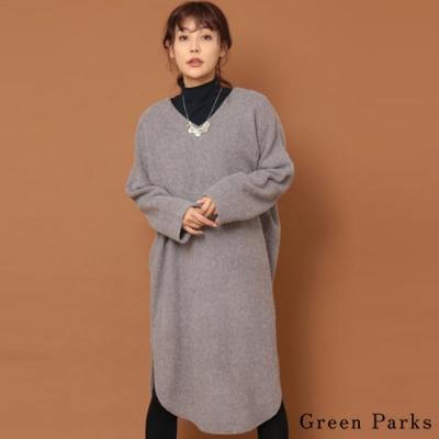 Green Parks V領繭型下開叉連身洋裝