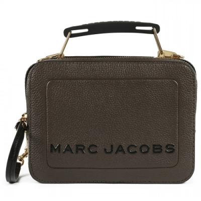 MARC JACOBS THE BOX 20  雙拉鍊牛皮手提/肩背兩用包(小款 /巧克力色)