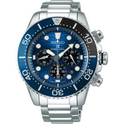 (無卡分期6期)SEIKO 精工PROSPEX愛海洋特別版大白鯊太陽能計時錶(SSC741P1)