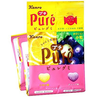 甘露 Pure軟糖4連包[檸檬&葡萄](56g)