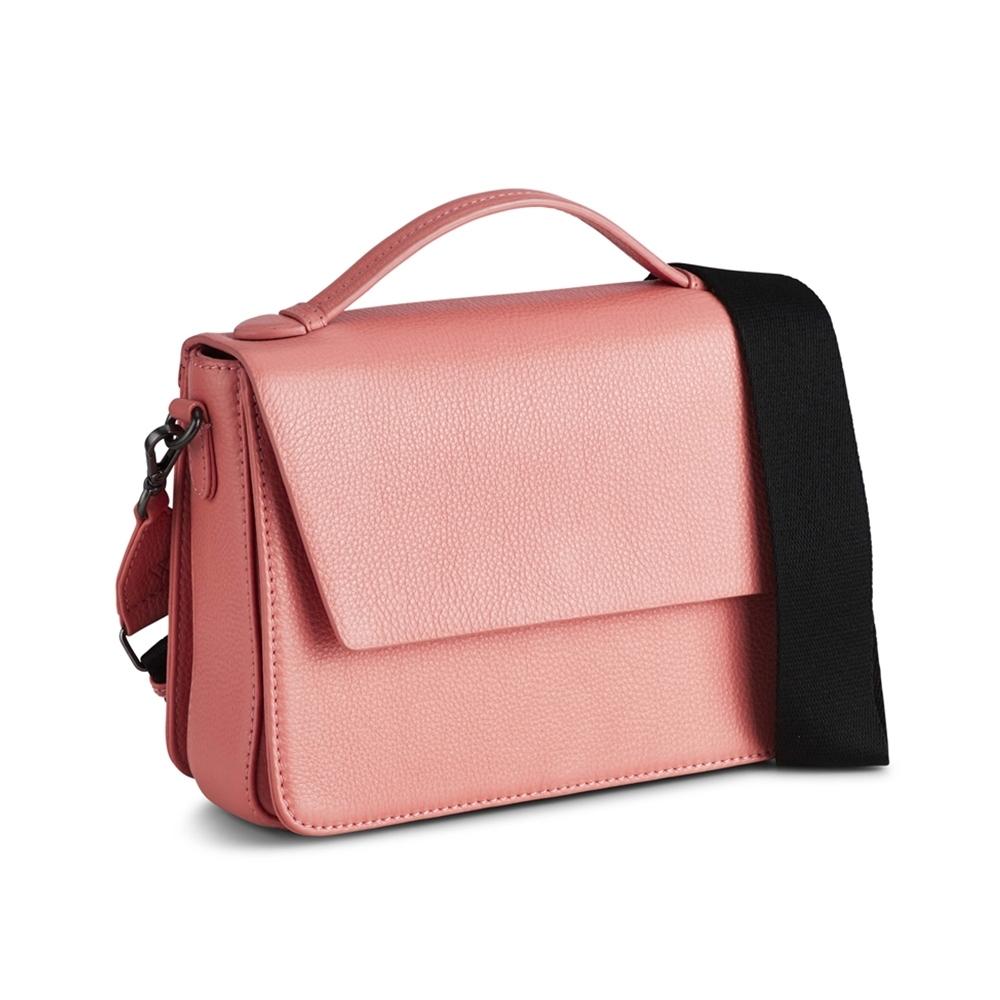 MARKBERG Luna 丹麥手工牛皮時尚拼接手提包/斜背包 (珊瑚紅)