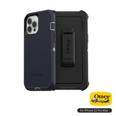 OtterBox iPhone 12 Pro Max (6.7吋)專用 防刮防塵防摔手機保護殼-Defender防禦者系列■藍
