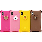 GARMMA LINE FRIENDS iPhone X/XS 四角氣囊果凍套