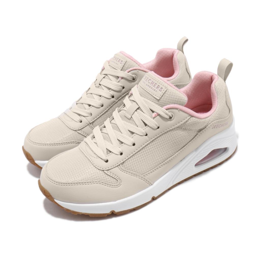 Skechers 休閒鞋 Uno Inside Matters 女鞋 厚底 增高 球鞋穿搭 緩震 透氣 米 粉 155005NAT