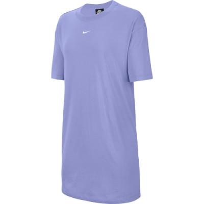 NIKE  洋裝 休閒 運動 長版上衣  女款  紫  CJ2243569  AS W NSW ESSNTL DRESS