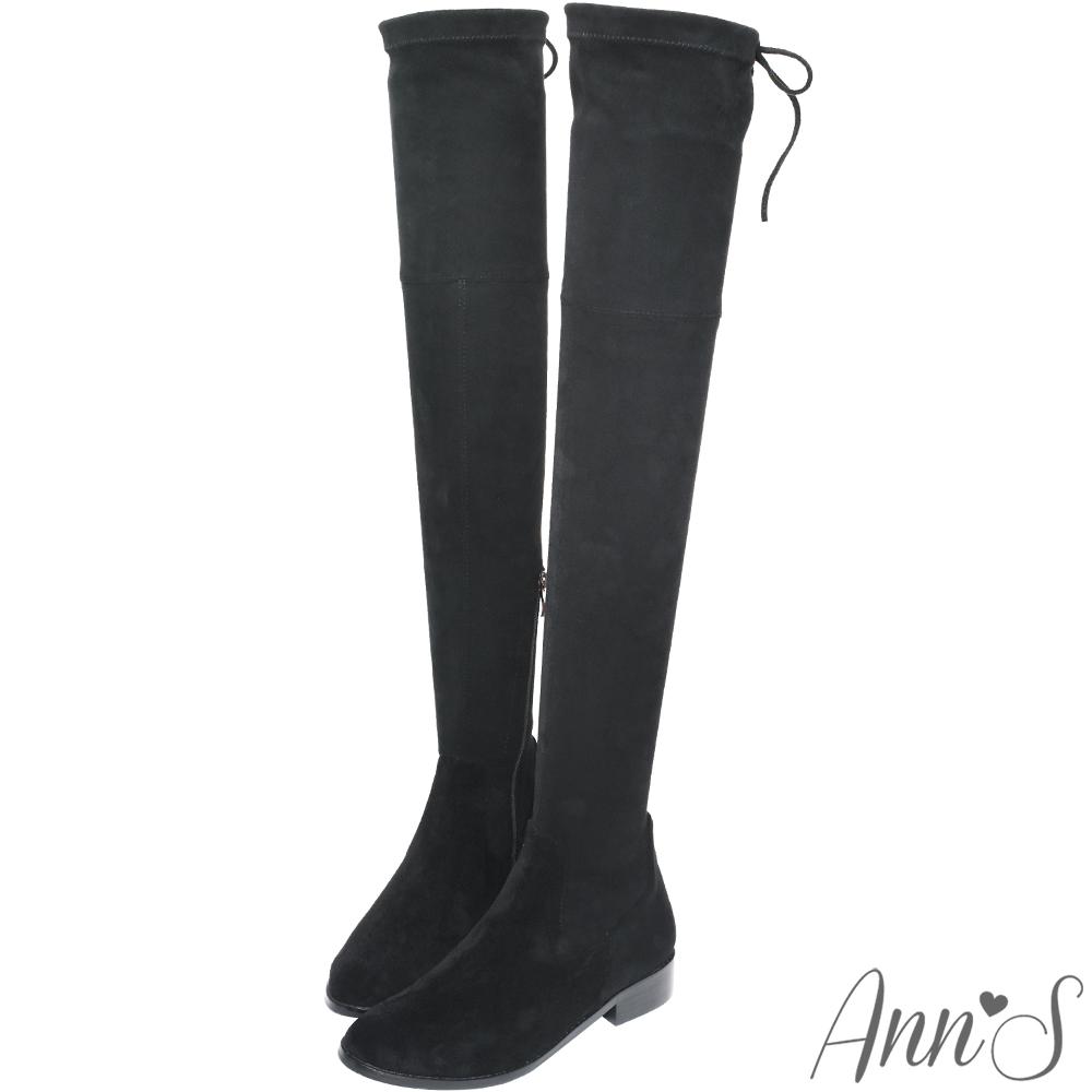 Ann'S絨質XXS激窄版不掉筒不滑落過膝靴