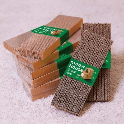 喵屋 加厚貓抓板(一入) 耐抓耐磨 貓玩具 MIT台灣製造 環保無毒瓦楞紙