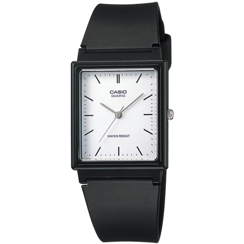 CASIO 簡約時尚風格基本搭配款腕錶-白X丁字刻(MQ-27-7E)/24mm