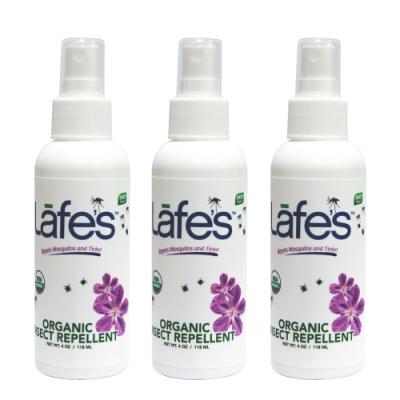 Lafe s organic 有機全家防蚊液x3