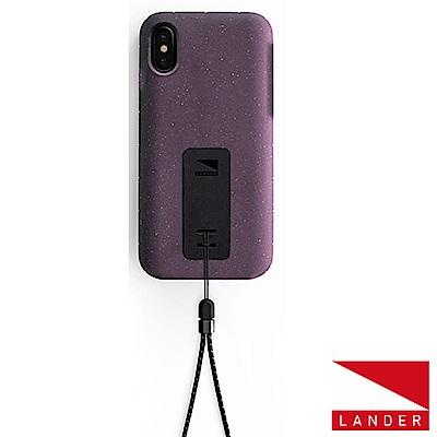 美國 Lander iPhone Xs / X Moab 防摔手機保護殼 - 紫(附手繩)