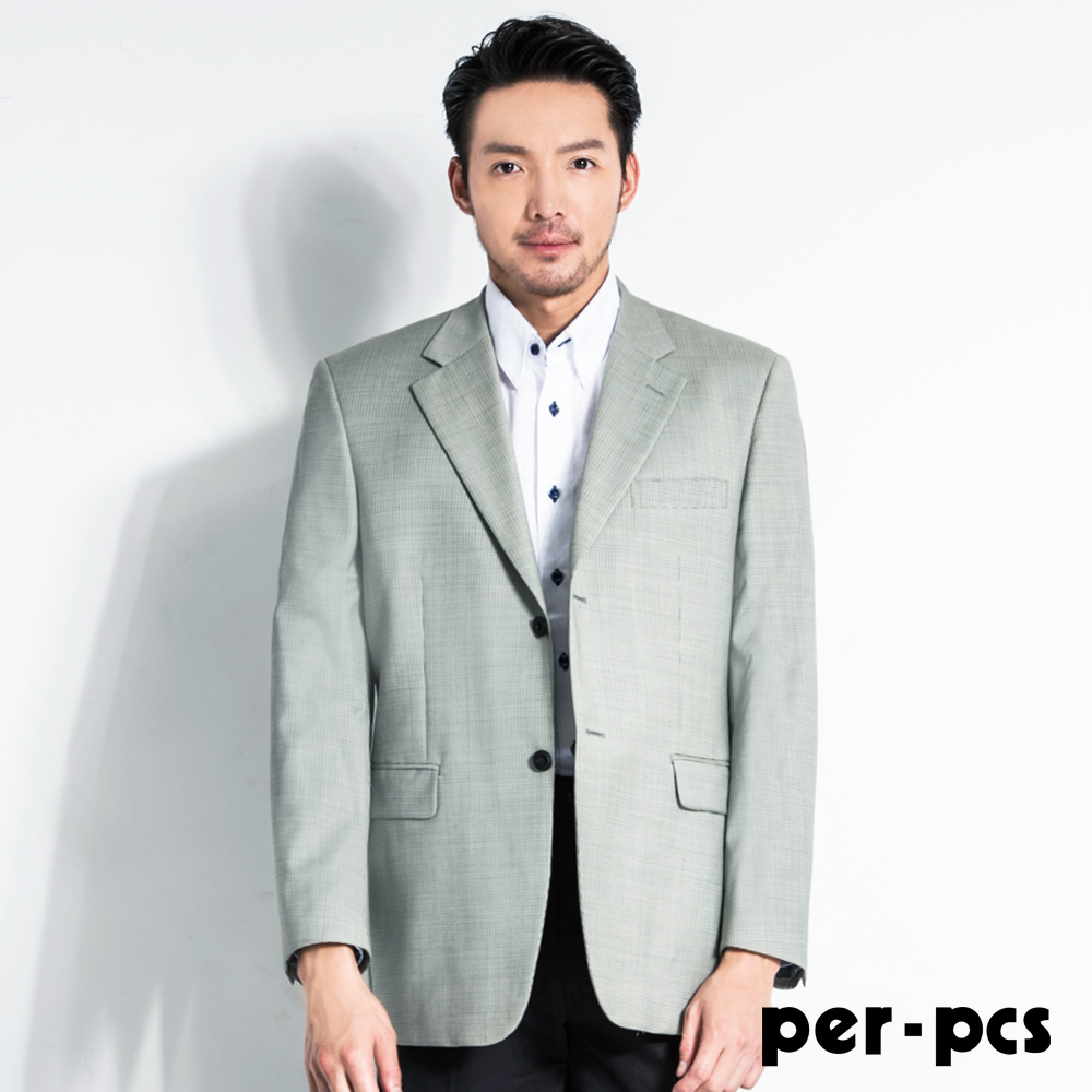 per-pcs 商務休閒品味格紋西裝外套(707325)