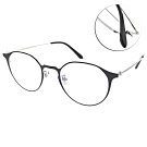 NINE ACCORD眼鏡 簡約貓眼款/黑-銀 #PLACO-FLATA1 C2