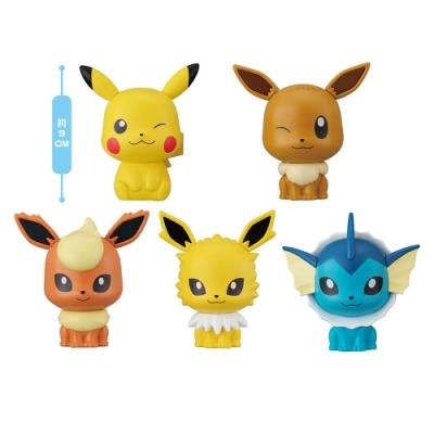BANDAI 萬代 扭蛋轉蛋 Pokemon 寶可夢 角色大頭公仔第四彈 一套全5種