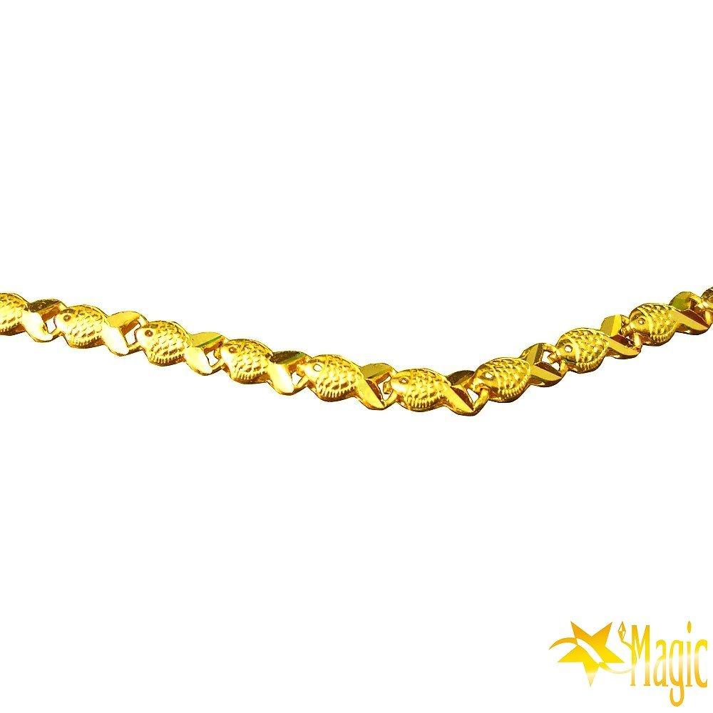 Magic魔法金-富貴黃金項鍊(約4.30台錢)(約長60cm)