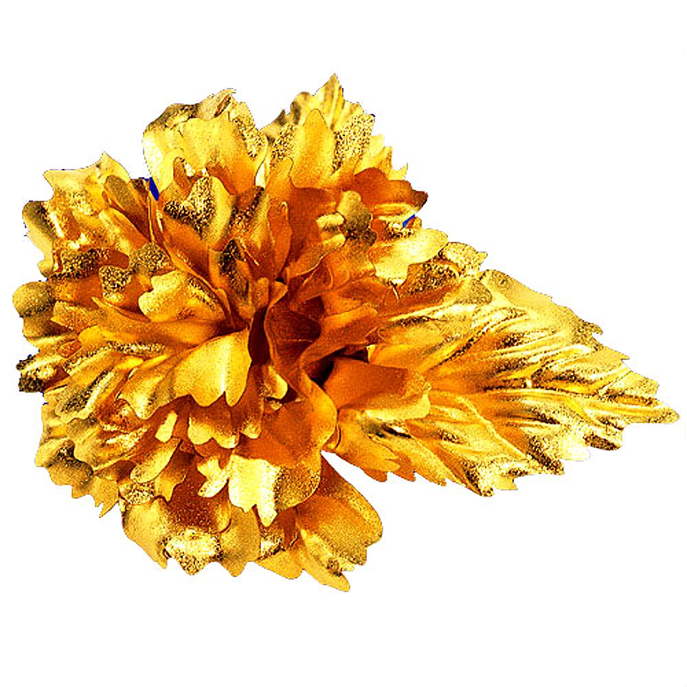 黃金花純金 康乃馨胸針 母親節禮物