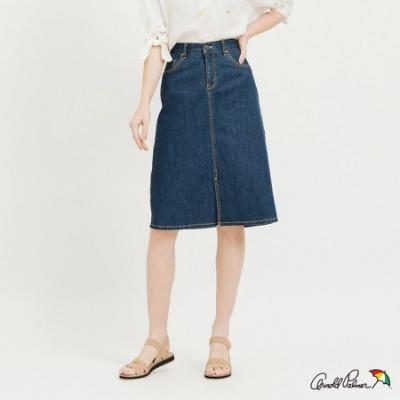 Arnold Palmer-女裝-膝下A-Line 牛仔裙-藍