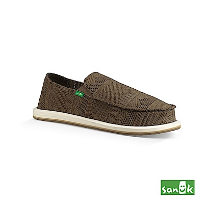 SANUK-YEW KNIT 針織網布懶人鞋-男款(深墨綠)