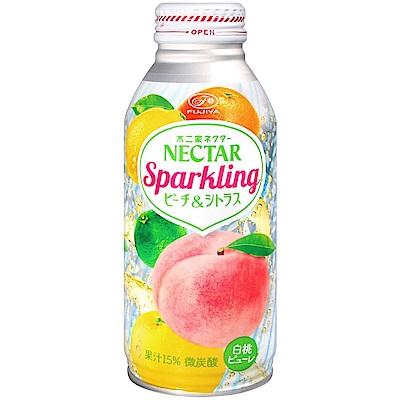 不二家 NECTAR碳酸飲料-蜜桃柑橘(380g)