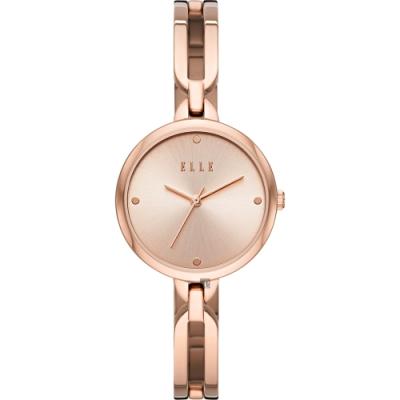 ELLE Wagram 系列 手鍊式時尚女錶-玫塊金/32mm ELL21014