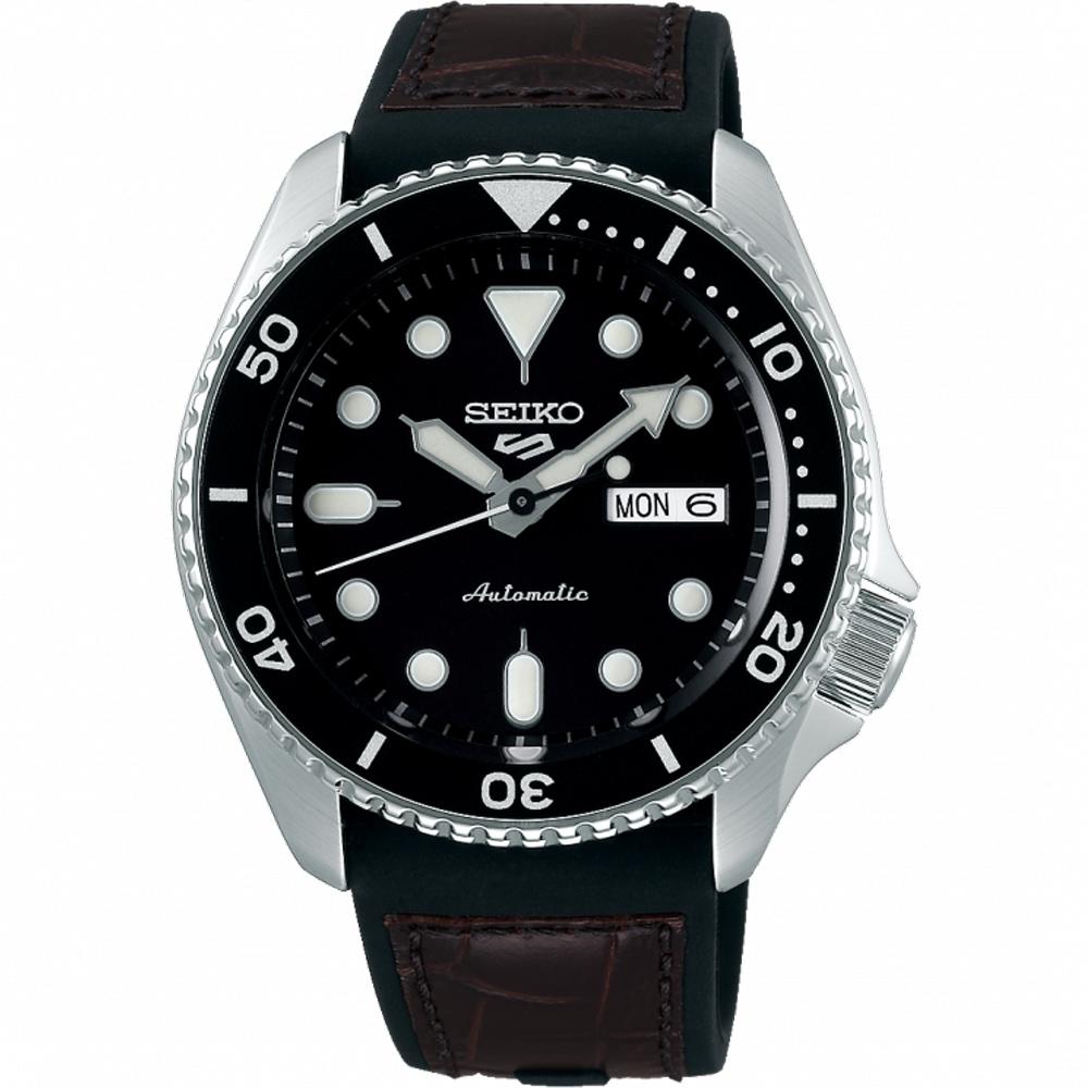 SEIKO 精工 5 Sports 系列潮流機械錶 4R36-07G0C(SRPD55K2)-黑/42.5mm