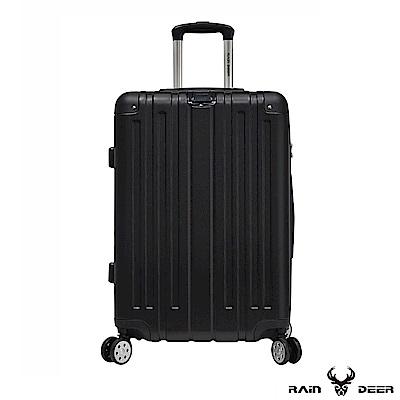 RAIN DEER 米克斯28吋ABS鑽石紋防刮行李箱-經典黑