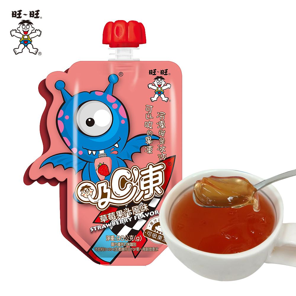 旺旺 吸C凍-草莓果汁風味(90gx6入)