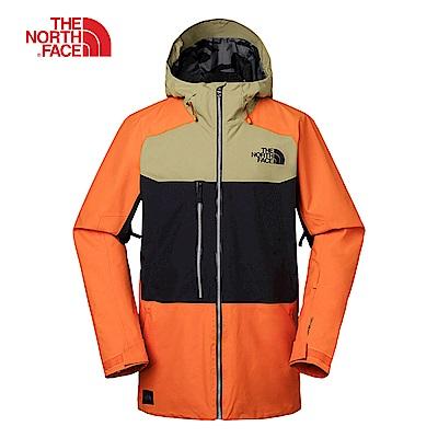 The North Face北面男款橙黑撞色滑雪外套 3IFB6NS