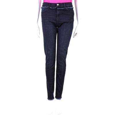 Emporio Armani J20 Skinny Fit 不修邊細節深藍色窄管彈性牛仔褲