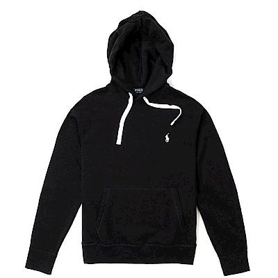Polo Rlaph Lauren 年度熱銷經典刺繡小馬鋪棉連帽T恤-黑色