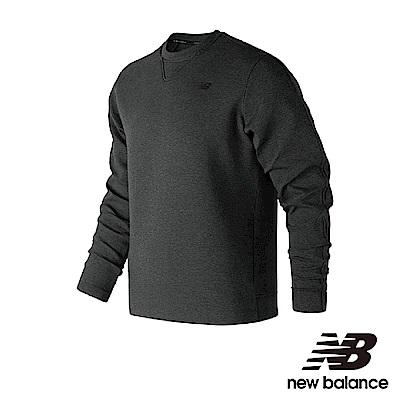 New Balance 圓領長袖上衣 MT83503BK 男性 黑色