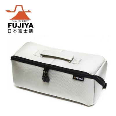【FUJIYA】經典高緩衝大開口工具收納袋(特大)-科技灰-FTC-2LIG