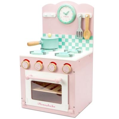 英國 Le Toy Van 角色扮演系列-烤箱瓦斯爐小廚師大型玩具組 (夢幻公主粉)