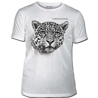 摩達客-美國The Mountain保育系列 滅絕花豹 白色修身短袖T恤