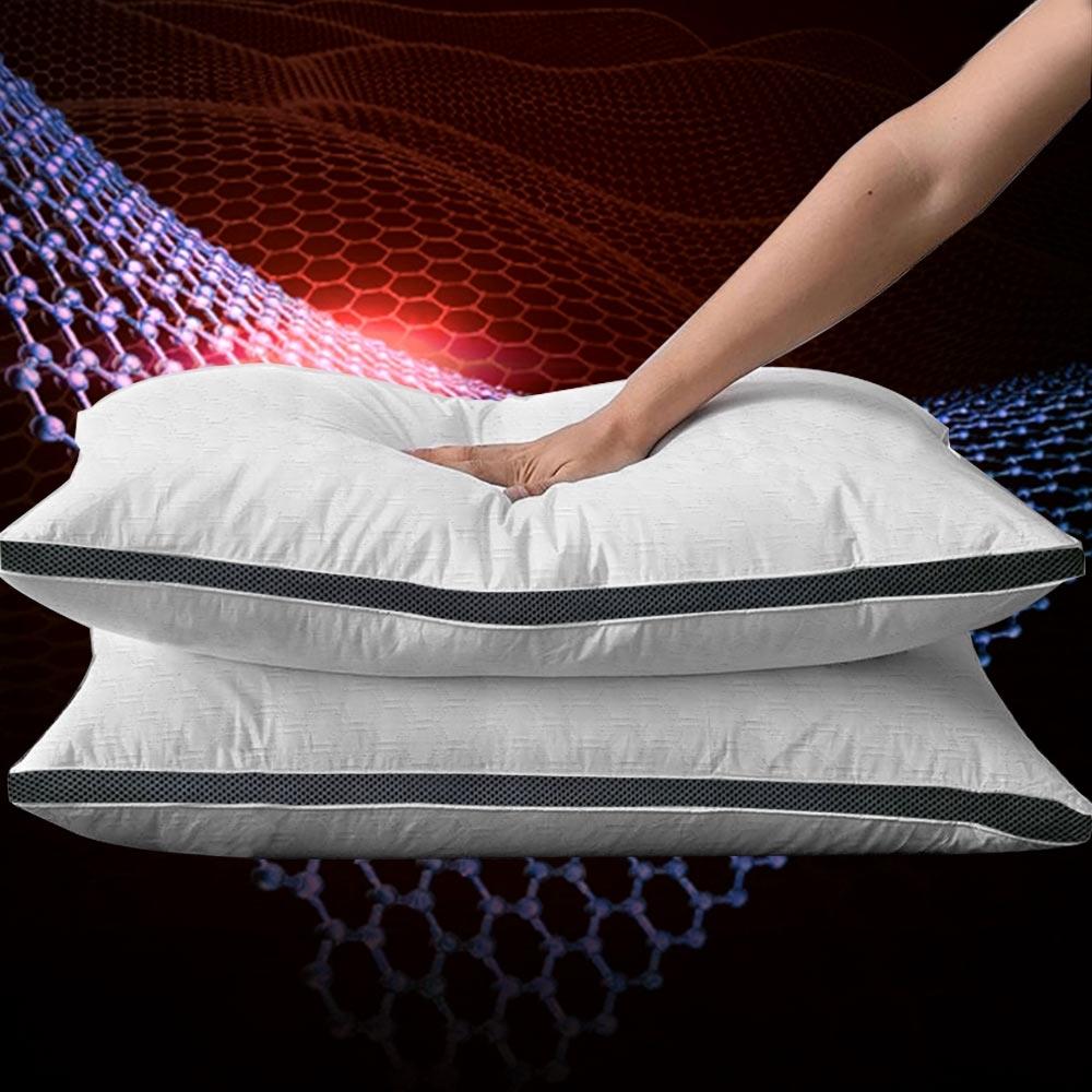 (買一送一)高科技石墨烯3D助眠枕/4D工學空調獨立筒枕