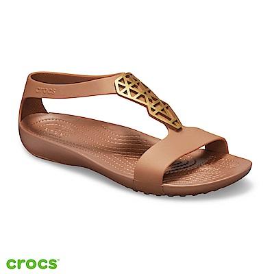 Crocs 卡駱馳 (女鞋) 瑟琳娜女士造型涼鞋 205601-860