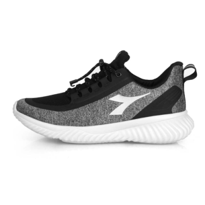DIADORA 女 生活抗水運動鞋-寬楦 灰黑銀