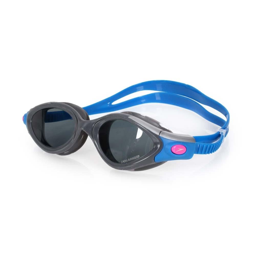 SPEEDO 女成人用進階偏光泳鏡   藍灰
