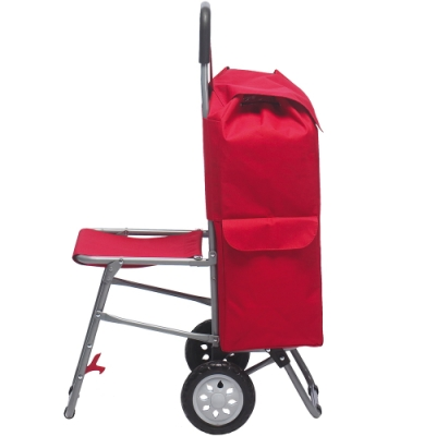 《EXCELSA》折疊椅購物車(紅38L)