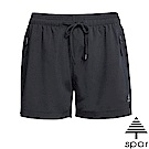 SPAR 女新款 彈性運動短褲_黑色